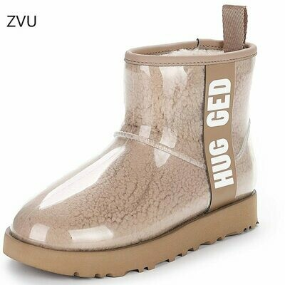 Snow-Boots Star-Models Sheep-Fur Integrated Natural Women's with The Same Paragraph Waterproof