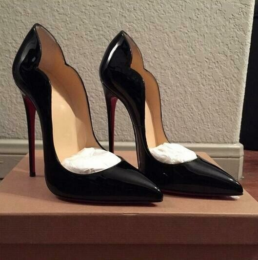 Women Shoes Pumps Red So Kate High-Heels 12CM Pointed Patent Leather Ladies 10cm WOW