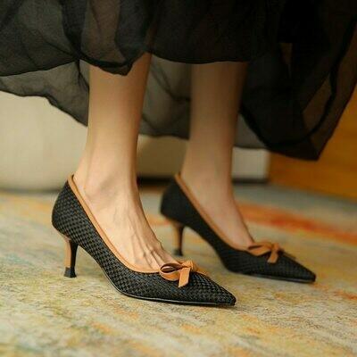 GUIDIBASICWomen Shoes High Heels Pumps Shoes Retro Thin Heel 2021 Fashion Women D17-JH869
