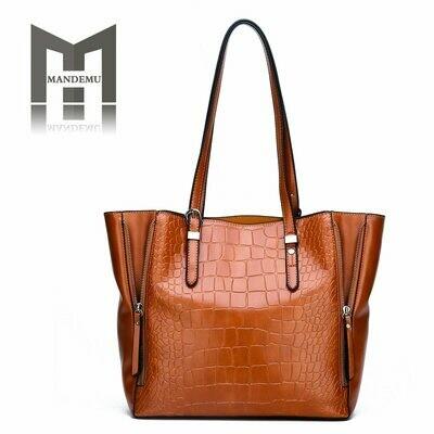 Women Handbags Tote-Bag Multi-Color Casual New-Fashion Lady Female Solid PU Soft Large-Capacity