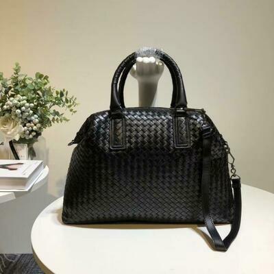 Handbag Single-Shoulder-Bag External-Dermis Woman Sheepskin Woven-Bag Head-Layer Manual