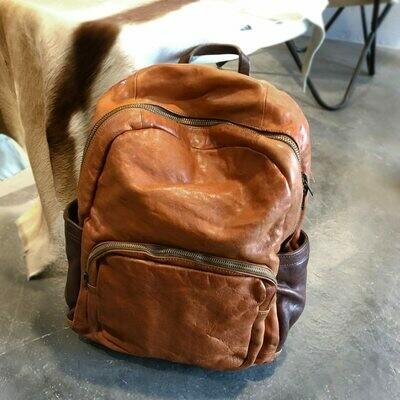 Laptop Bag Travel Backpacks Shoulder-Bags Large-Capacity Thick Men Coffee Brown Retro