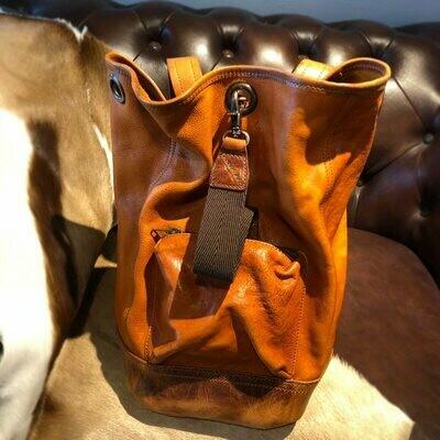 Men's Backpack Retro Tide Men Bag Tanned Vegetable