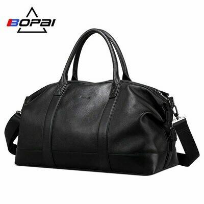 Duffle-Bags Weekend Travel BOPAI Unisex Soft Men Top-Layer