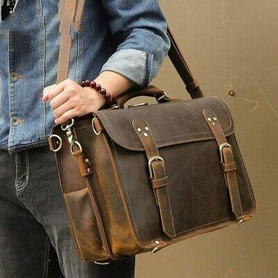 Bag Briefcase-Bags Laptop-Bag Crazy-Horse 17-Maletines Men for Trabajo Hombre