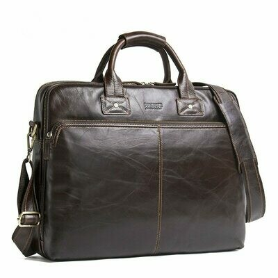 Laptop Handbag Computer-Bag Business Briefcase Top-Quality Women Luxury Bolso Male Genuine-Leather