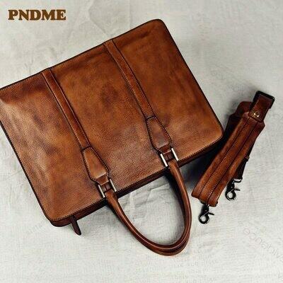 Laptop Handbag Messenger-Bags Men's Briefcase High-Quality Luxury Office-Shoulder Business