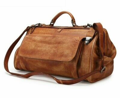 Travel-Bag Designer Bag Black Genuine-Leather MAHEU Fashion Men with Metal-Buckle Anti-Theft