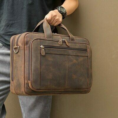 MAHEU Top Qaulity Brand Briefcase Bag For Men Male Business Bag Vintage Designer Handbag