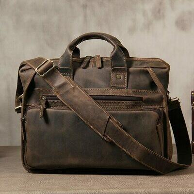 Briefcase Handbags Computer Crossbody-Bag Vintage MAHEU 14inch Male Designer for Popular
