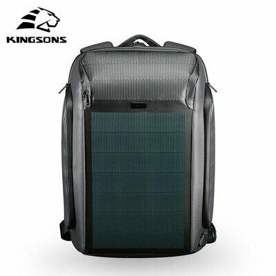 Backpack Kingsons Usb-Charging Solar-Panel Waterproof/15.6inch Male Men New-Beam