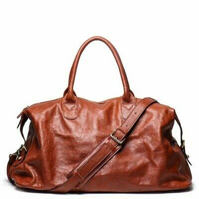 Genuine Leather Travel Handbag Top Quality Business Laptop Duffel Luggage Large Capacity