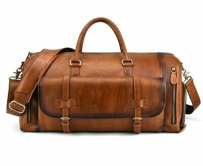 Bag Duffel-Bag Handbag Large-Capacity Retro Luufan Men Rub-Color Men's