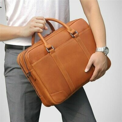Men Briefcase Travel-Bag High-Quality Messenger-Bags Portfolio Laptop Business Brown
