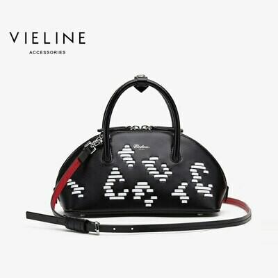 Lady Handbag Shoulder-Bag Designer Brand Vieline Women Shell Weave Large