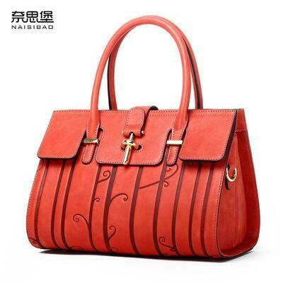 Women Bags Designer Genuine-Leather Fashion Embossed NASIBAO