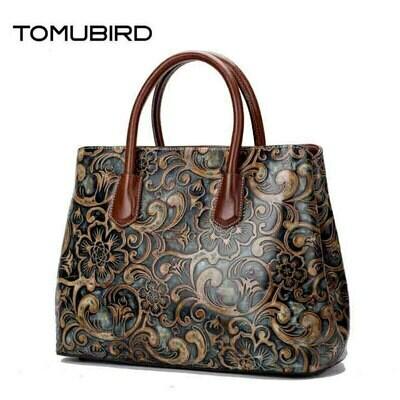 Bag Brands Handbagsa Genuine-Leather Women Tote-Bag TOMUBIRD National Wind-Embossed