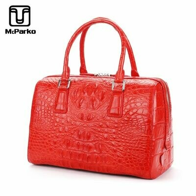 Women Bags Hand-Bag Designer-Bags Crocodile Genuine-Leather Luxury Famous-Brand Female