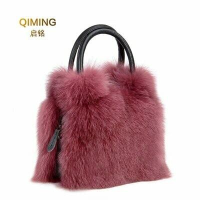 Crossbody-Bags Tote Ladies Handbags Design Genuine-Leather Real Fashion Women Fur
