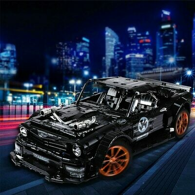 Toys Model Building-Block Led-Bricks Technic Mustanged Racing-Car Forded 3168pcs Hoonicorn