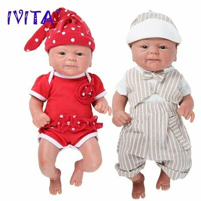 Realistic Baby Toys Reborn-Doll Eyes WG1512 Silicone IVITA Children Christmas-Gift Ce