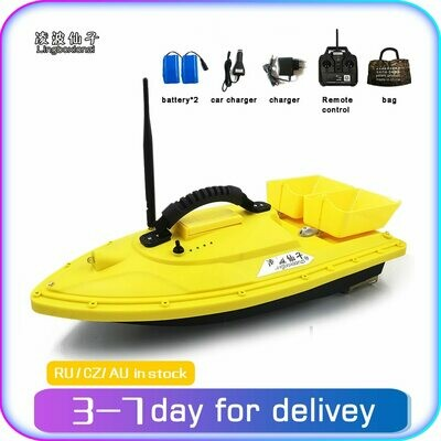 Lingboxianzi T188 Night Light RC Distance Auto Lure Fishing Smart Remote Control Bait Boat Toy Fish Finder Wireless 1.5KG 500M
