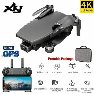 Gps Drone Quadcopter Foldable Professional Brushless-Motor XKJ L108 4k Camera with HD