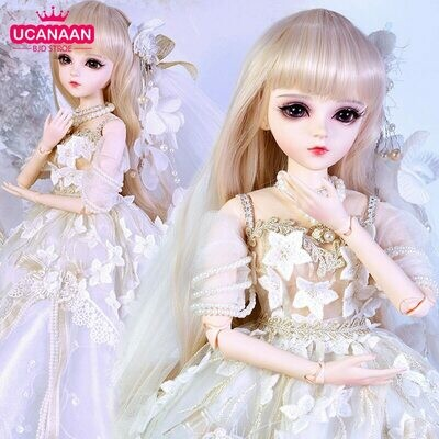 Dolls Outfits Wig-Shoes Dress Jointed Makeup-Toys Gifts Girls-Collection 18-Ball Palace