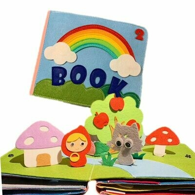 Quiet Book Interaction-Book Practice-Hand Rainbow Early-Learning Soft Education Baby