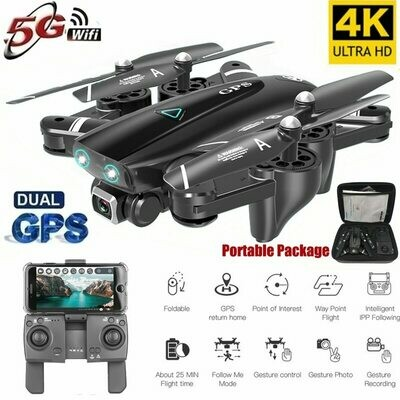 S167 5G Drone GPS RC Quadcopter With 4K Camera WIFI FPV Foldable Off-Point Flying Gesture