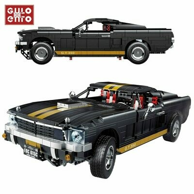 Children Toys Building-Blocks Car-Bricks Racer Vehicle Gifts City-Mustanged Technic-Speed