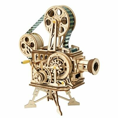 Toys Puzzle-Film Model-Building-Kits Projector Train Mechanical-Model Robotime Treasure