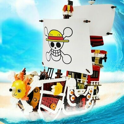 Blocks Model Figures Thousand Sunny Gifts Ships One-Pieces-Boats Techinc Pirate Idea