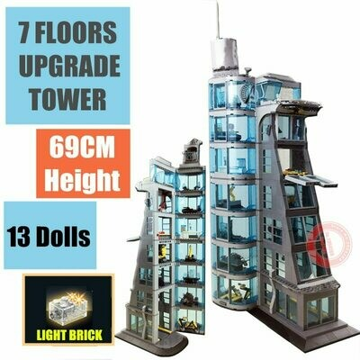 Toy Brick Tower Fit-Figures Building-Block Starks Heroes Super-Iron Giant Streetview