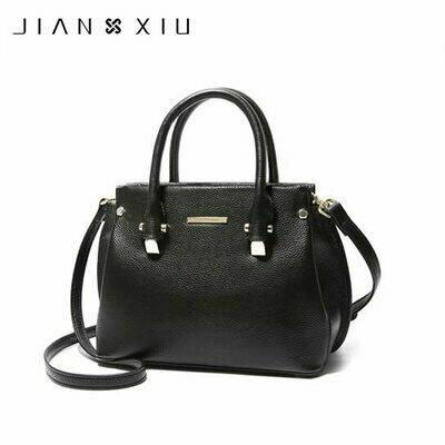 Female Handbags Genuine-Leather Tote Messenger-Bags Shoulder-Crossbody-Bag Bag Women