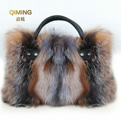 Big Bag Handbag Real Luxury Shoulder-Bag Ladies Gift B4 Fur Fox-Fur Diagonal-Package
