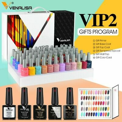 Varnish-Set Nail-Polish-Kit Top-Nail Venalisa Primer Tempered-Nowipe Luxury-Color Salon