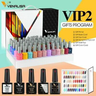 Varnish-Set Nail-Polish-Kit Top-Nail Venalisa Primer Tempered-Nowipe Luxury-Color Salon