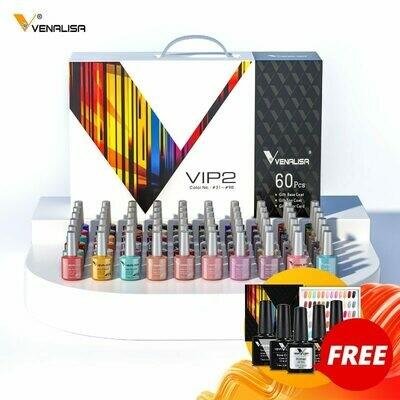 Gel-Polish Nail-Gel Whole-Set Venalisa Color 60-Fashion Learner-Kit for New