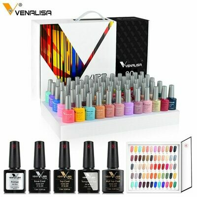 Nail-Polish-Set Topcoat Color-Book Venalisa-Vip2-Gel Fast-Delivery New Primer Uv-Gel