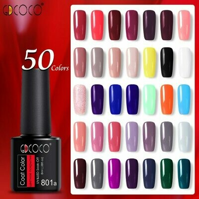 Base-Coat Gel Polish Primer Nail-Gel GDCOCO Bottle Plastic Color Nowipe 55pcs/Set Cheapest