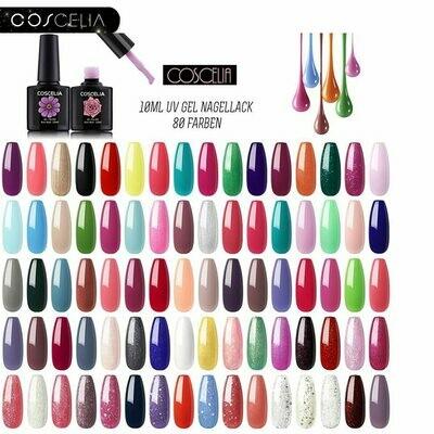 Gel-Nail-Polish-Set Manicure-Set COSCELIA Varnish 10ML All for 80pcs