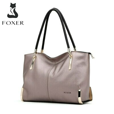 Zipper Handbag Tote Shoulder-Bag Large-Capacity FOXER Designer Luxury Women's Brand Lady