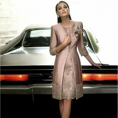 Dresses Formal-Gowns Two-Piece-Set Mother-Of-The-Bride Suit Jacket Elegant Plus-Size
