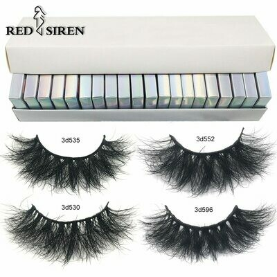 Fluffy Makeup Mink-Lashes Soft-Volume Natural-Eyelasehs In-Bulk Box with 3d RED 30/50