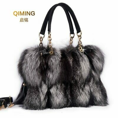 Handbag Brand Totes Luxury Designer Woman Real Ladies Fur Fox-Fur