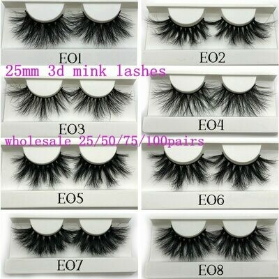 Tray-Label Makeup Mink-Lashes Dramatic Mikiwi White Wholesale Big 3D Long 25/50/75/100-pc