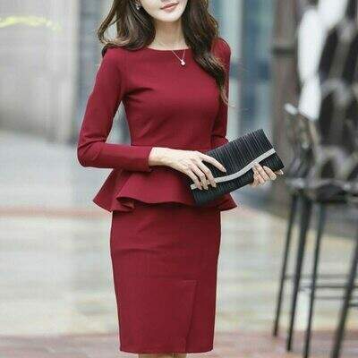 Outfits Pencil-Dress-Set Formal-Wear Plus-Size Womens Suits Office Business Elegant OL