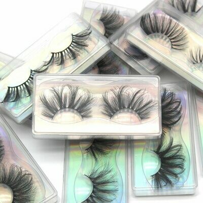 25mm Lashes Faux-Mink Damepapil Natural Wispy In-Bulk Wholesale 10/20/30-/..