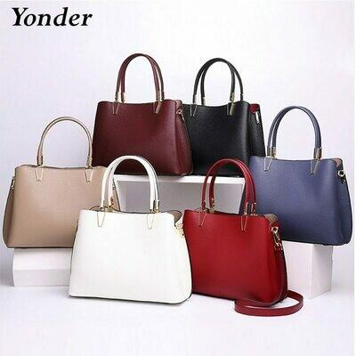 Bag Handbags-Bag Tote Purse Shoulder-Crossbody-Bag Wine Black Genuine-Leather Women's